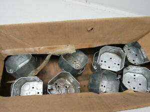 Raco 166 4 Octagon Outlet Box 2 1 8 Deep 3 4 Knockouts Lot Of 16