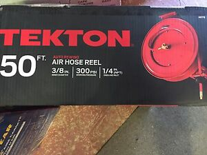 Tekton 4678 50 foot By 3 8 inch Retractable Air Hose Reel