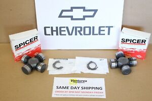 Chevy Blazer V10 Dana 44 Front Axle Shaft U Joint Set Oem Spicer Free Shipping
