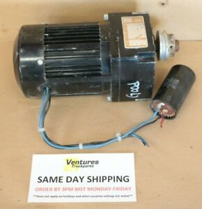 Electric Gear Motor 1 10 Hp 7 To 1 Ratio 21 Lb in Of Torq Bodine New Old Stock