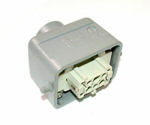 Up To 4 Harting 6 pin Female Connector And Hood Han 6ef
