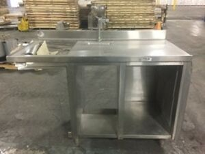 58 inch Stainless Stand Table Cabinet W Water Spout Sink Send Best Offer