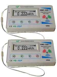 Two Gq Gmc 320 plus V4 Geiger Counter Radiation Detector Meter Beta Gamma X Ray