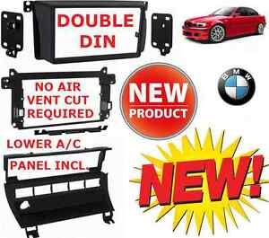 Bmw E46 Double Din Car Stereo Radio Installation Dash Kit Bezel A c Relocation