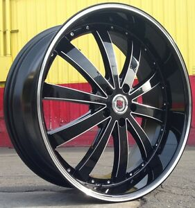 24 Inch Rsw77b Rims Tires Dodge Challenger Charger Magnum Chrysler 300c 5x115