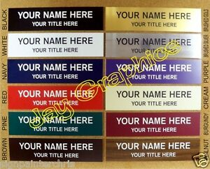 Custom Engraved 2x8 Name Plate Personalized Customized Wall Door Desk Sign