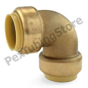 10 1 Sharkbite Style push fit Push To Connect Lead free Brass Elbows