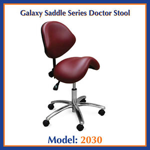Galaxy 2030 Ergonomic Dental Saddle Stool Doctor s Seat Contoured Chair