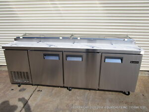 New Equipchefs 93 Refrigerated Pizza Prep Table Picl 3 On Casters Picl3