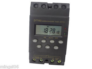 220v Timer Switch Timer Controller Lcd Display programmable Timerswitch 25a Amps