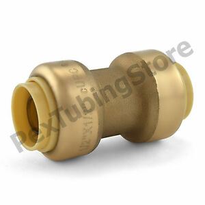 25 1 2 Sharkbite Style push fit Push To Connect Lead free Brass Couplings