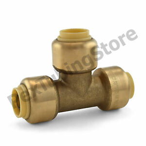 3 8 Sharkbite Style push fit Push To Connect Lead free Brass Tee Fitting