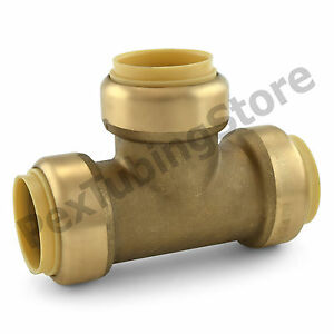 10 1 Sharkbite Style push fit Push To Connect Lead free Brass Tees
