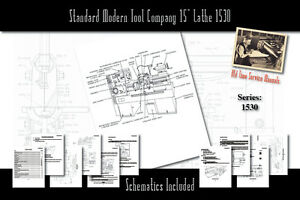 Standard Modern Tool Company 15 Lathe 1530 Owners Users Service Manual
