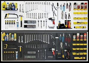 Wallpeg Pegboard Panels Shelves Bins Locking Peg Hooks Choice Black White