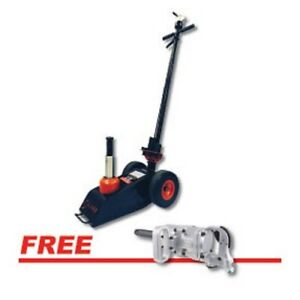 Sunex 6722iw 22ton Truck Axle Jack W Air Return W Free 1 Impact Wrench 6 Anvil