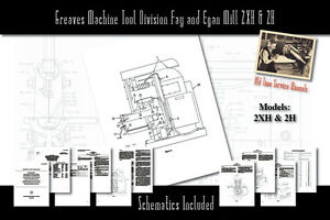 Greaves Machine Tool Division Fay And Egan Mill 2xh 2h Manual Parts List Etc