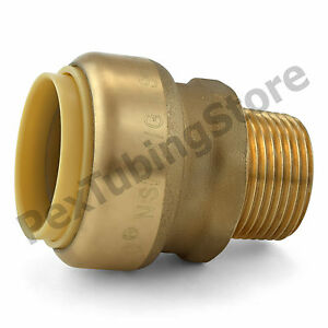 10 1 Sharkbite Style Push fit X 3 4 Mnpt Lf Brass Male Threaded Adapters