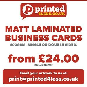 Matt Laminated Business Cards Printed Full Colour Appointment Cards 400gsm
