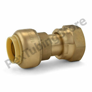 10 1 2 Sharkbite Style Push fit X 1 2 Fnpt Lf Brass Fnpt Swivel Adapters