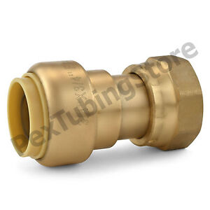 10 3 4 Sharkbite Style Push fit X 3 4 Fnpt Lf Brass Fnpt Swivel Adapters
