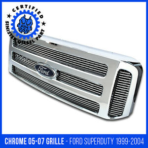 Ford Chrome Grille Conversion Fits 1999 2004 Super Duty 2005 2006 2007 F250 F350