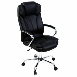 Goplus Ergonomic Pu Leather High Back Executive Computer Desk Task Office Chair