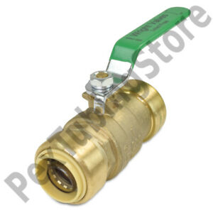 10 1 Sharkbite Style push fit Push To Connect Lead free Brass Ball Valves