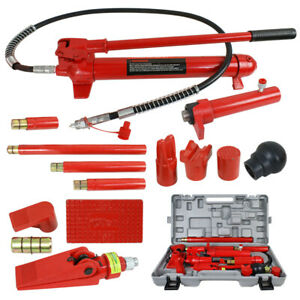 10 Ton Porta Power Hydraulic Jack Body Frame Repair Kit Auto Shop Heavy Duty