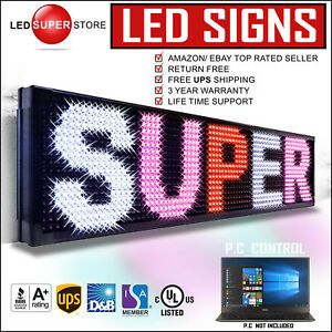 Led Super Store 3col rwp pc 40 x40 Programmable Scrolling Emc Display Msg Sign