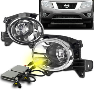 New Driving Fog Lights Lamps Chrome W 3k Hid Set Switch For 2013 2016 Pathfinder