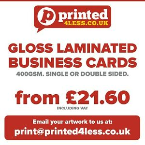 Gloss Laminated Business Cards Printed Full Colour Appointment Card 400gsm Flyer