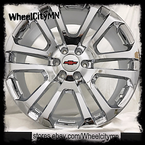 20 Inch Chrome 2015 2016 Ck158 Oe Factory Replica Rims Chevrolet Silverado 6x5 5