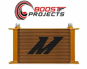 Mishimoto Universal 25 Row Oil Cooler Gold Mmoc 25g