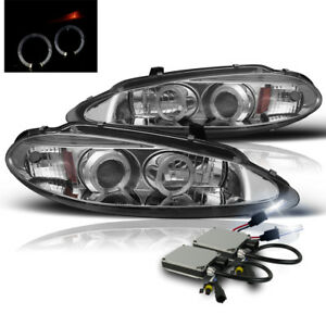 1998 2004 Dodge Intrepid 4dr Chrome Halo Projector Headlight Lamp 8k Hid New Set