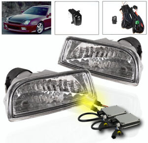 1997 2001 Honda Prelude Lower Bumper Driving Fog Lights Harness 3k Xenon Hid Kit