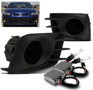 2011 2012 2013 Scion Tc Dark Smoke Bumper Driving Fog Lights 50w 8000k Xenon Hid