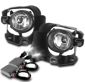 Front Bumper Driving Fog Lights Chrome 50w 8k Xenon Hid For 2014 2015 Versa Note