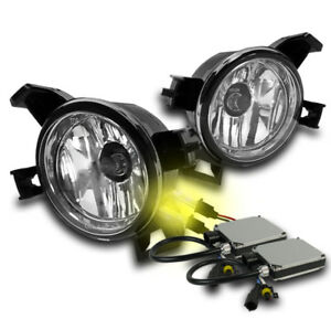 Driving Bumper Fog Lights Chrome Switch 3000k Hid Set For 05 06 Altima 04 Quest