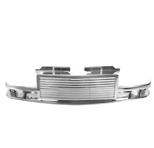 1998 2004 Chevy S10 98 05 Blazer Horizontal Front Upper Main Top Grille Chrome