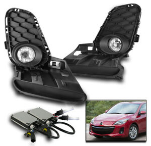 2012 2013 Mazda 3 Mazda3 Chrome Bumper Driving Fog Light Set W Switch 6k Hid Kit