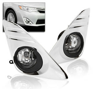 2012 2014 Toyota Camry Lower Bumper Driving Fog Lights Chrome switch harness Set
