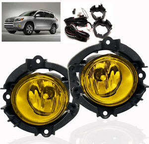2006 2008 Toyota Rav4 2009 2010 Highlander Yellow Lower Bumper Driving Fog Light