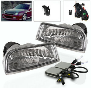 1997 2001 Honda Prelude Front Bumper Driving Fog Lights Harness Set 6k Xenon Hid