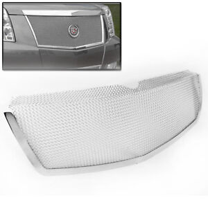 2007 2013 Cadillac Escalade Chrome Front Upper Main Top Mesh Grille Grill Insert