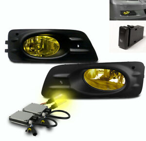 2006 2007 Honda Accord Ex Lx Sedan Bumper Driving Fog Lights Yellow 3k Xenon Hid