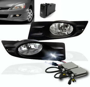 2006 2007 Honda Accord Ex Lx 2dr Front Bumper Driving Fog Lights Chrome W 8k Hid