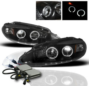 1998 2004 Dodge Intrepid 4dr Black Halo Projector Headlights Lamp 8k Hid New Set