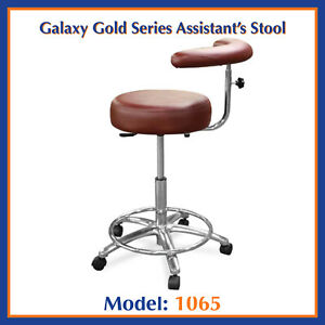 Galaxy 1065 Round Seat Dental Assistant s Hygienist Stool Chair W Foot Rest