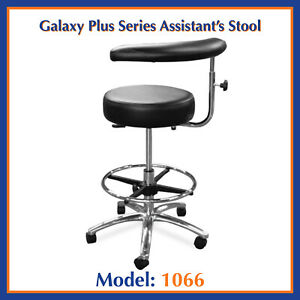 Galaxy 1066 Round Seat Dental Assistant s Hygienist Stool Chair W Foot Rest